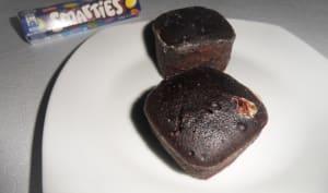 Muffins au chocolat et aux smarties