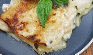 Lasagnes courgettes chèvre et basilic