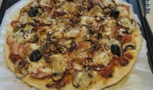 Pizza gourmande au grill-plancha