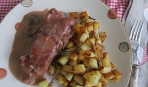 Paupiettes de jambon à la chipolata et merguez, sauce au porto