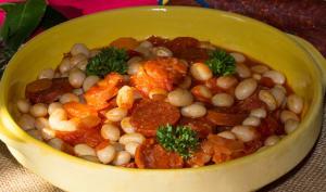 Coco de Paimpol à la tomate et au chorizo
