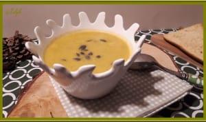 Soupe de brocoli, carotte au chèvre frais