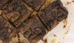 Carrés biscuités figues et noix