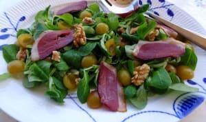 Salade sucrée salée aux mirabelles