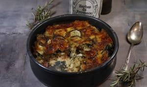 Gratin de courgettes tomate mozzarella et romarin