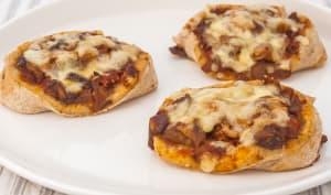 Pizza roulée aux cèpes