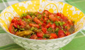 Salade de poivrons grillés et tomates