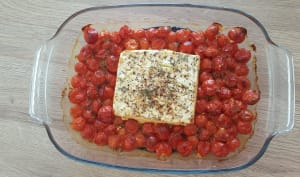 Feta et tomates au four