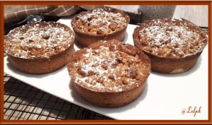 Tartelettes crumble au chocolat au praliné