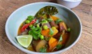 Curry thaï d'aubergines au lait de coco
