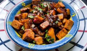 Wok de choux-raves et tofu aux 5 épices
