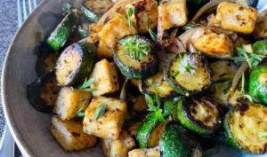 Poêlée de courgettes et de tofu