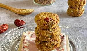 Biscuits sans cuisson, jujubes, abricots, muesli