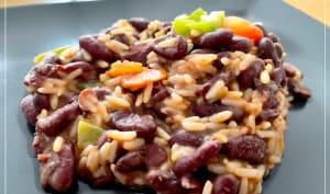 Riz mexicain aux haricots rouges