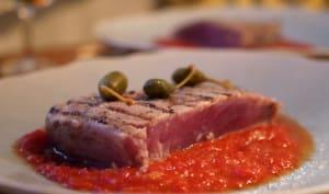 Filet de thon rouge grillé aux câpres