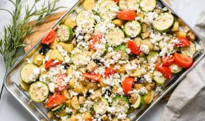 Légumes au four à la feta