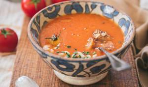 Gaspacho de tomate et concombre