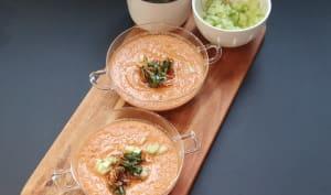 Gaspacho aux tomates et au gingembre