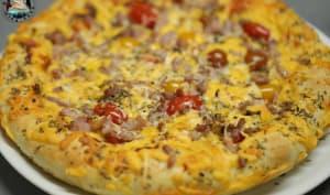 Pizza cheese aux lardons