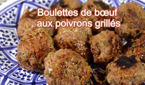 Boulettes de bœuf aux poivrons grillés