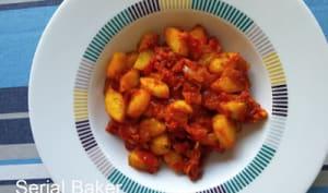 Concombre aux épices et à la tomate