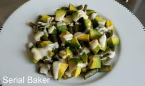 Salade d'avocat et haricots verts à la sauce sésame