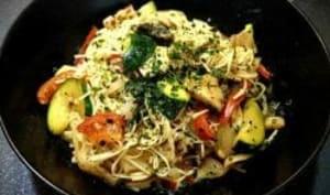 Nouilles sautées chinoise aux légumes