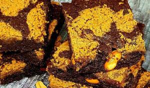 Brownies au chocolat et beurre de cacahuètes