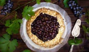 Tarte rustique raisins amandes