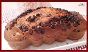 Cake à la crème fraîche et pépites de chocolat