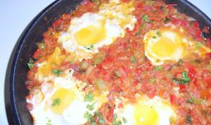 Chakchouka poivrons œufs