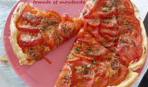 Tarte express tomate et moutarde