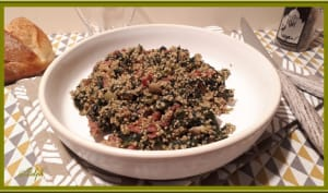 Quinoa aux épinards