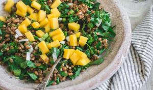 Salade petit épeautre, persil plat et mangue
