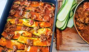 Lasagnes de courgettes à la sauce bolognaise