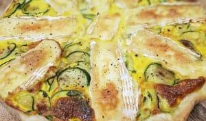 Tarte courgettes, camembert, basilic