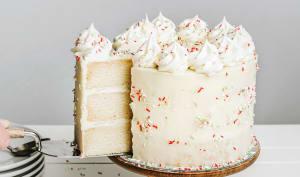 Gâteau d'anniversaire à la vanille