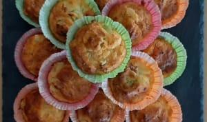 Muffins salés à base de pommes de terre, courgette, jambon et fromage