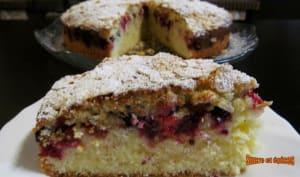 Gâteau bi-couche aux fruits rouges et amandes