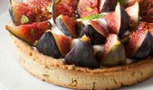 Tarte aux figues sur fond de pate sablée à la pistache – La cuisine du mercredi