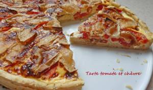 Tarte tomate et chèvre