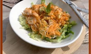 Salade de carottes et vermicelles