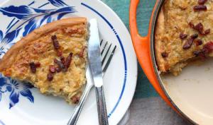 Tarte aux oignons sur pâte briochée à l'allemande