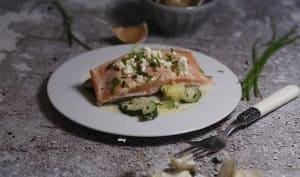 saumon à la crème de feta