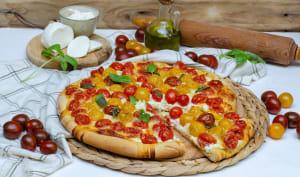 Pizza ricotta et tomates cerises