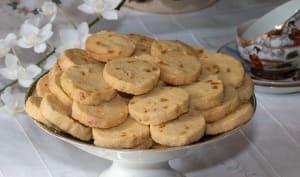Biscuits sablés diamants à l'écorce d'orange confite