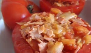 Tomates farcies au jambon