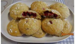 Biscuits craquelés aux framboises