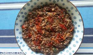 Ecrasé de lentilles à la tomate et au tahin d'Ottolenghi
