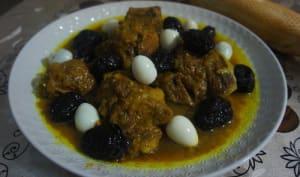 Tajine de veau aux pruneaux marocain